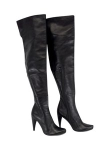 Chlo Black Leather Over The Knee Boots