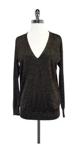 Diane von Furstenberg Black Gold V-neck Sweater