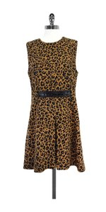 3.1 Phillip Lim short dress Tan Black Leopard Print on Tradesy