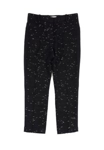 3.1 Phillip Lim Black Ivory Tweed Straight Leg Pants