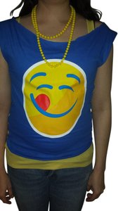 Gildan Emoji Sleeveless Medium Sale 15off T Shirt Blue