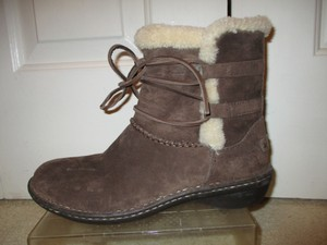 UGG Australia Sheepskin Leather Suede Ankle brown Boots