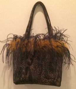 Other Party Handbag Reversible Tote in Animal print reverses to solid black