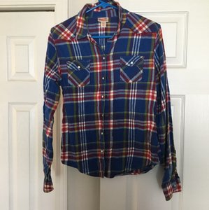 Mossimo Supply Co. Button Down Shirt Blue, red, yellow