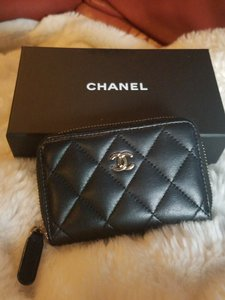 Chanel Chanel Classic Lambskin Zip Around Coin Purse