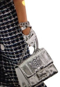 Chanel CHANEL NWT AIRLINE RUNWAY 2016 SILVER LEATHER GLOVES ($775) (SIZE 7)