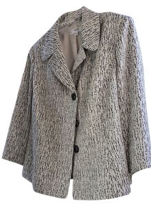 Le Suit Plus-size Jacket Grey Speckled Pattern Blazer