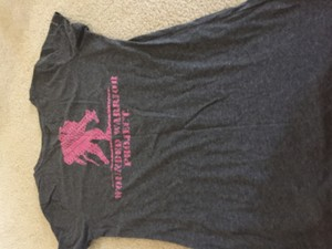 Under Armour Under armour grey pink wounded warrior top