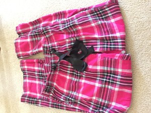 Old Navy Relaxed Pants Pink plaid