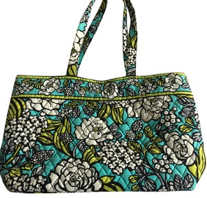 Vera Bradley Tote in Turquoise, White, Green