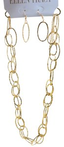 Ellen Tracy Oval Links Necklace and Earrings Set