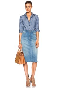 Mother Easy A Jean Fly Skirt Welcome to Paradise