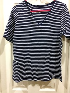 Lane Bryant T Shirt Blue and white