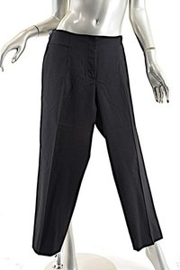 Fabiana Filippi Wool Blend Capri/Cropped Pants Black