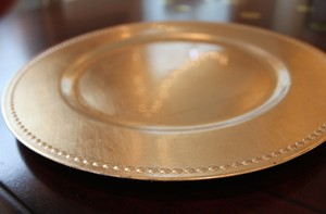 Gold Beaded Charger Plates (150 Pcs)