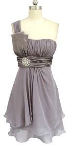 Other One Shoulder Chiffon Rhinestones Dress