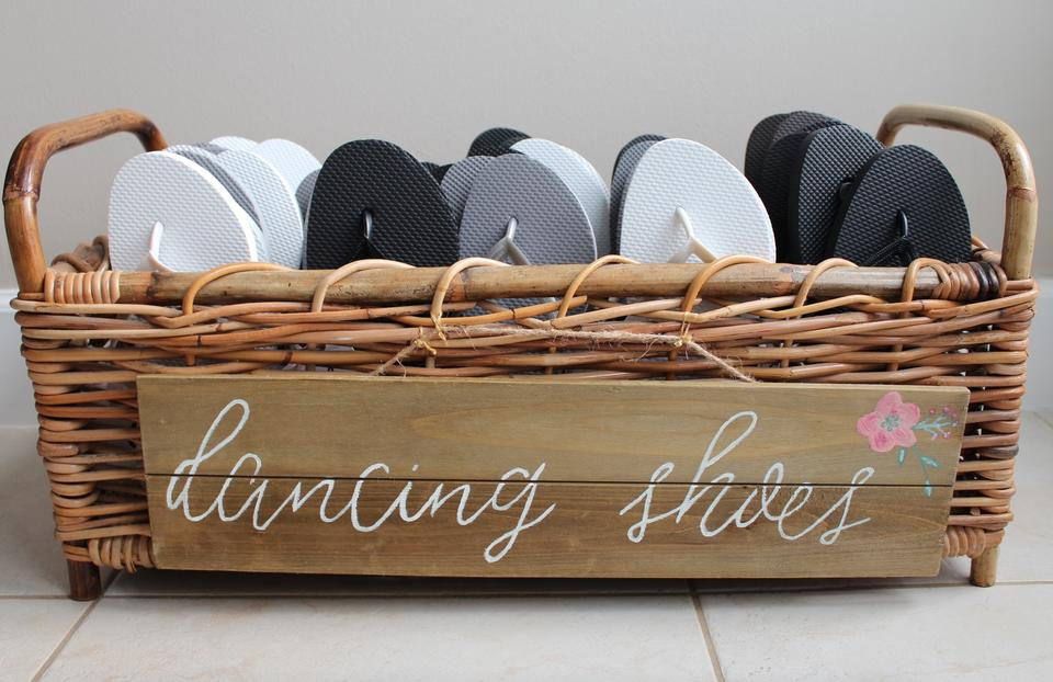 b2681025c Old Navy Silver Black White Brown Wedding Guest Flip Flops Basket ...