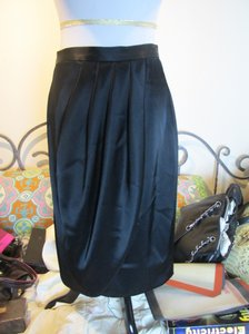 St. John Tulip Silk Blend Classic Skirt Navy Blue