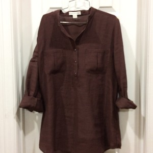 Coldwater Creek Button Down Shirt Brown