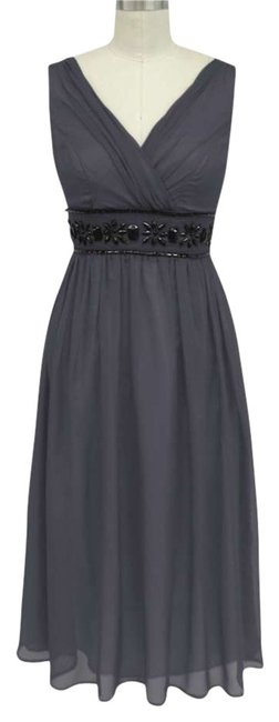 Preload https://item1.tradesy.com/images/gray-beaded-waist-mid-length-formal-dress-size-22-plus-2x-198975-0-0.jpg?width=400&height=650