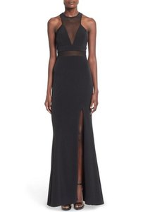Nordstrom Wendy Gown Evening Mesh Insert Maxi High Slit Dress