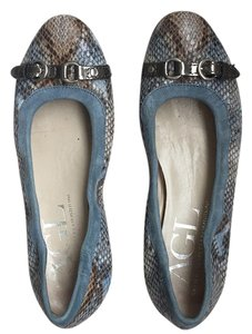 Attilio Giusti Leombruni Blue, brown and gray Flats