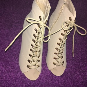 Charlotte Russe Gold and Beige Boots