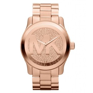 Michael Kors Women's Oversized Runway Rose Gold-Tone Watch
