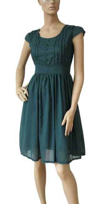 Preload https://item4.tradesy.com/images/green-vintage-style-short-sleeved-cotton-knee-length-workoffice-dress-size-16-xl-plus-0x-198978-0-0.jpg?width=400&height=650