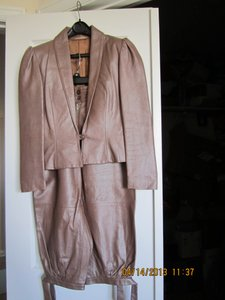 Hannelore Gebhardt Vintage Leather suit bought from Runway in 1980 in Munich, Germany