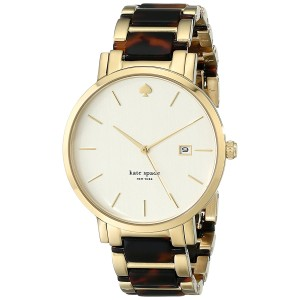 Kate Spade Women's Gramercy Grand Tortoise and Gold-Tone Watch