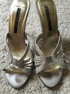 Laundry by Shelli Segal Open Toed Silver Sandals