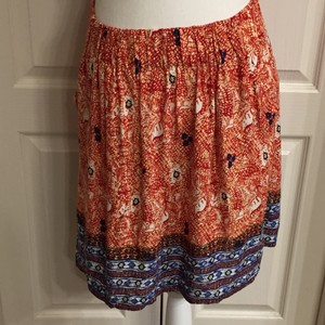 CAbi Skirt Multi colored red blue