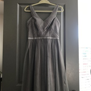 Monique Lhuillier Grey Dress