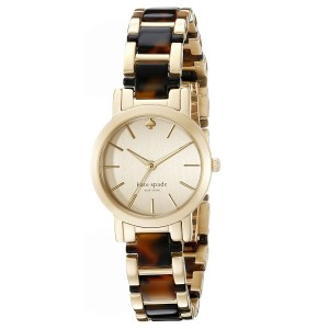 Kate Spade Women's Gramercy Mini Two-Tone Gold Tortoise Watch