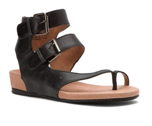 Crowne Comforteur Buckles Gray/Distressed Black Sandals
