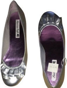 American Eagle Outfitters Silver Flats