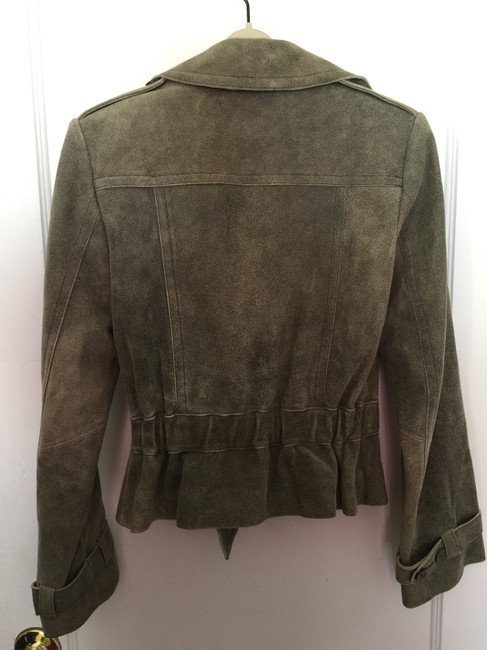Express Green Leather Jacket