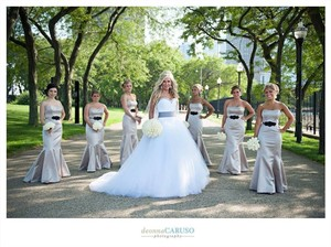 Lazaro Champaign Ivory Dress