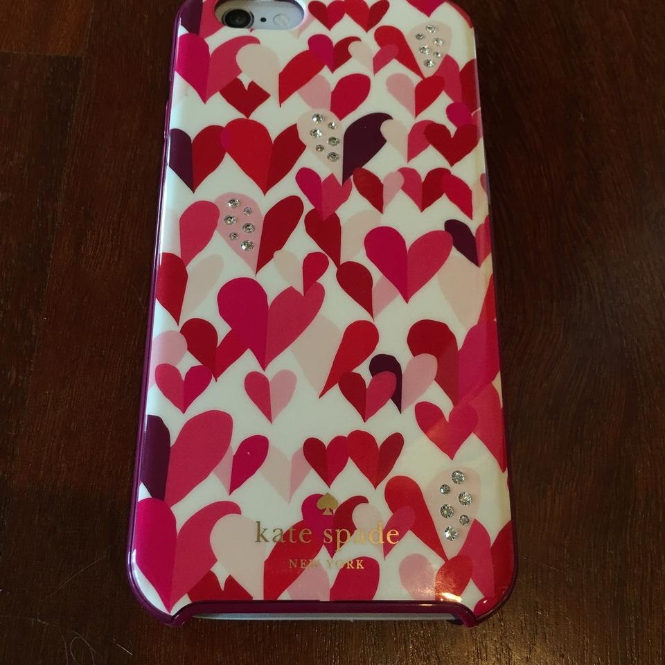 official photos 43224 418f4 Kate Spade Red Pink Iphone 6 6s Case Hearts Confetti Hybrid Hardshell Tech  Accessory 55% off retail