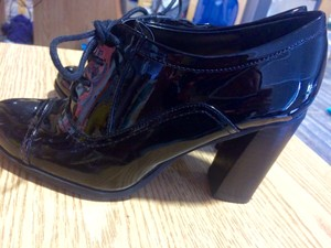 Nine West Vintage Comfortable Black Patent Leather Pumps