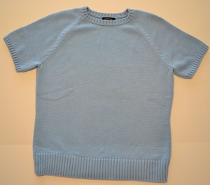 Lands' End Short Sleeve Cotton Sweater