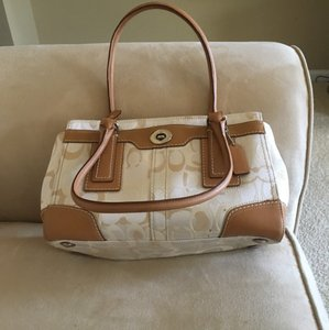 Coach Satchel in White Tan