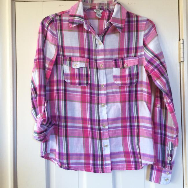 Forever 21 Button Down Shirt Pink