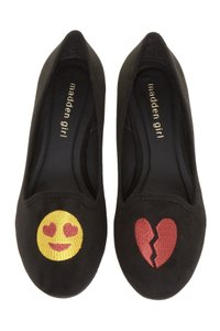 Madden Girl Flat Smilee Black Flats