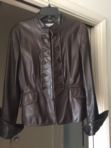 Strenesse Blue Brown Leather Jacket