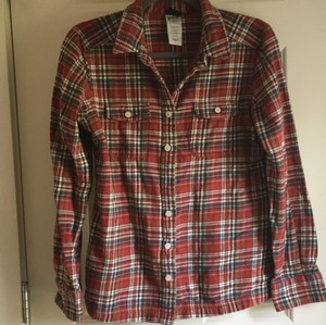 Patagonia Button Down Shirt Red flannel