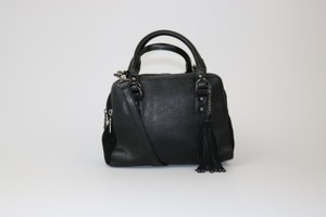 French Connection Fc Dark Silver Hardware Satchel in Black