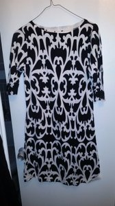 J.Crew short dress Black & white Damask on Tradesy