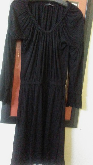 Item - Black 46 Made In Italy Stretchy Mid-length Night Out Dress Size 12 (L)